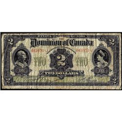 1914 $2 Dominion Bank of Canada Note