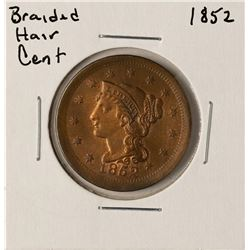 1852 Braided Hair Large Cent Coin