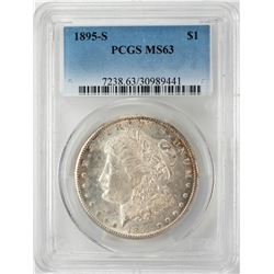 1895-S $1 Morgan Silver Dollar Coin PCGS MS63