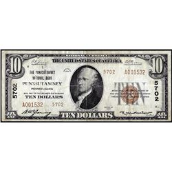 1929 Type 2 $10 NB of Punxsutawney, Pennsylvania CH# 5702 National Currency Note