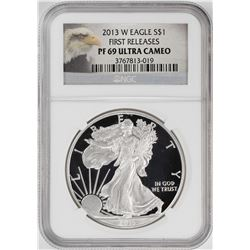 2013-W $1 Proof American Silver Eagle Coin NGC PF69 Ultra Cameo