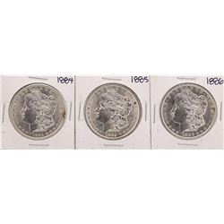 Lot of 1884-1886 $1 Morgan Silver Dollar Coins