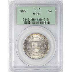 1936 York County, Maine Tercentenary Commemorative Half Dollar Coin PCGS MS66 OGH