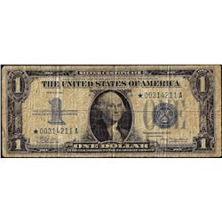 1934 $1 Funny Back Silver Certificate STAR Note