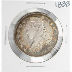 1833 Capped Bust Half Dollar Coin Nice Toning