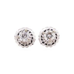 14KT White Gold 1.00 ctw Diamond Earrings