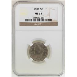 1900 Liberty Head Nickel Coin NGC MS63