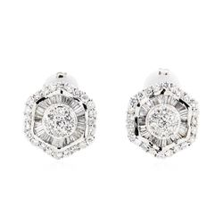 14KT White Gold 3.45 ctw Diamond Earrings