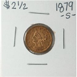 1879-S $2 1/2 Liberty Head Quarter Eagle Gold Coin