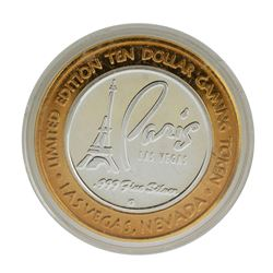 .999 Silver Paris Casino Resort Las Vegas, NV $10 Casino Limited Edition Gaming Token