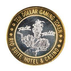 .999 Silver Rio Suite Hotel & Casino Las Vegas $10 Limited Edition Gaming Token