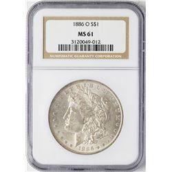 1886-O $1 Morgan Silver Dollar Coin NGC MS61