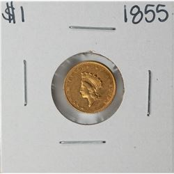 1855 $1 Indian Princess Head Gold Dollar Coin