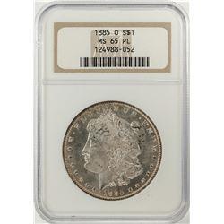 1885-O $1 Morgan Silver Dollar Coin NGC MS65 PL