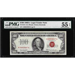 1966A $100 Legal Tender Note Fr.1551 PMG About Uncirculated 55EPQ