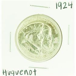 1924 Huguenot - Walloon Tercentenary Commemorative Half Dollar Coin