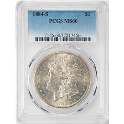 1884-S $1 Morgan Silver Dollar Coin PCGS MS60