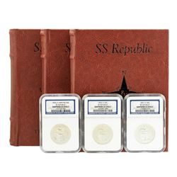 S.S. Republic Shipwreck 1855-O to 1857-O Seated Liberty Half Dollar Coins NGC Graded