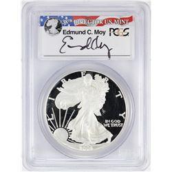 2006-W $1 American Silver Eagle Proof Coin PCGS PR69DCAM W/Edmund C. Moy Signature