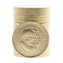 Roll of (20) 1953-S Booker T. Washington Commemorative Half Dollar Coins