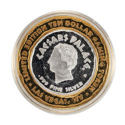 .999 Silver Caesars Palace Las Vegas, Nevada $10 Casino Limited Edition Gaming Token