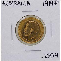 1919-P Australia Perth Mint King George V Sovereign Gold Coin