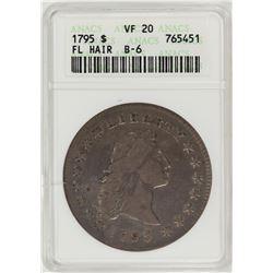 1795 $1 Flowing Hair Dollar Coin ANACS VF20 B-6