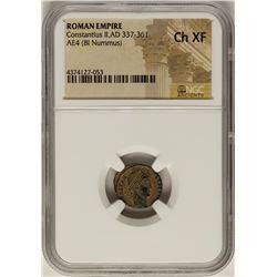 Constantius II, 337-361 AD Ancient Roman Empire Coin NGC Ch XF