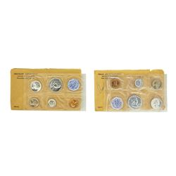 Lot of 1960-1961 (5) Coin Proof Sets