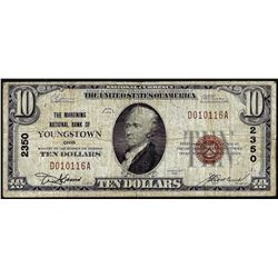 1929 $10 NB of Youngstown, OH CH# 2350 National Currency Note