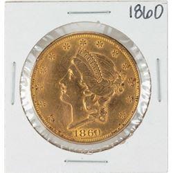 1860 $20 Liberty Head Double Eagle Gold Coin