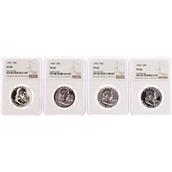 Lot of 1957-1960 Proof Franklin Half Dollar Coins NGC PF66