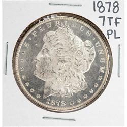 1878 7TF PL $1 Morgan Silver Dollar Coin