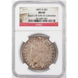 1897-O $1 Morgan Silver Dollar Coin NGC MS60