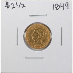 1849 $2 1/2 Liberty Head Quarter Eagle Gold Coin