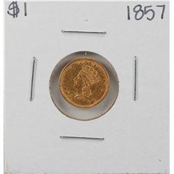 1857 $1 Indian Princess Head Gold Coin