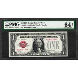 1928 $1 Legal Tender Note Fr.1500 PMG Choice Uncirculated 64EPQ