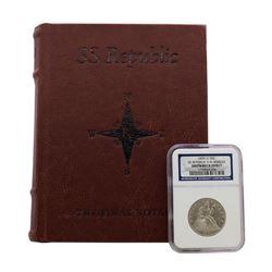 1859-O 9 in Border Seated Liberty Half Dollar Coin NGC Shipwreck Effect w/ Book