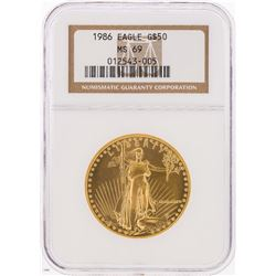 1986 $50 American Gold Eagle Coin NGC MS69