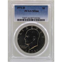 1971-D Eisenhower Ike Dollar PCGS MS66
