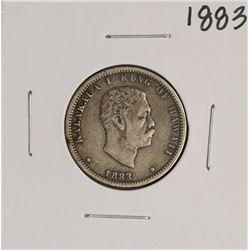1883 Kingdom of Hawaii Quarter Dollar Coin