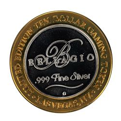 .999 Silver Bellagio Las Vegas, NV $10 Casino Limited Edition Gaming Token