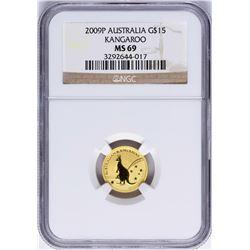 2009P $15 Australia Kangaroo Gold Coin NGC MS69