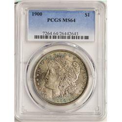 1900 $1 Morgan Silver Dollar Coin PCGS MS64 Nice Toning