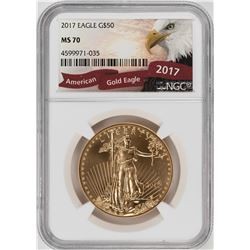2017 $50 American Gold Eagle Coin NGC MS70