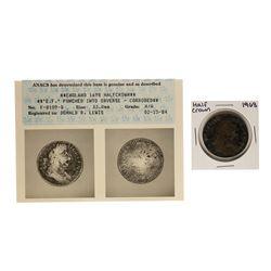 1698 Great Britain Half Crown Coin ANACS Graded