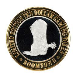 .999 Fine Silver Boomtown Reno, Nevada $10 Limited Edition Gaming Token