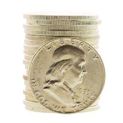 Roll of (20) Brilliant Uncirculated 1953-D Franklin Half Dollar Coins
