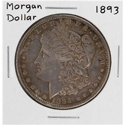 1893 $1 Morgan Silver Dollar Coin