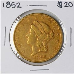 1852 $20 Liberty Head Double Eagle Gold Coin